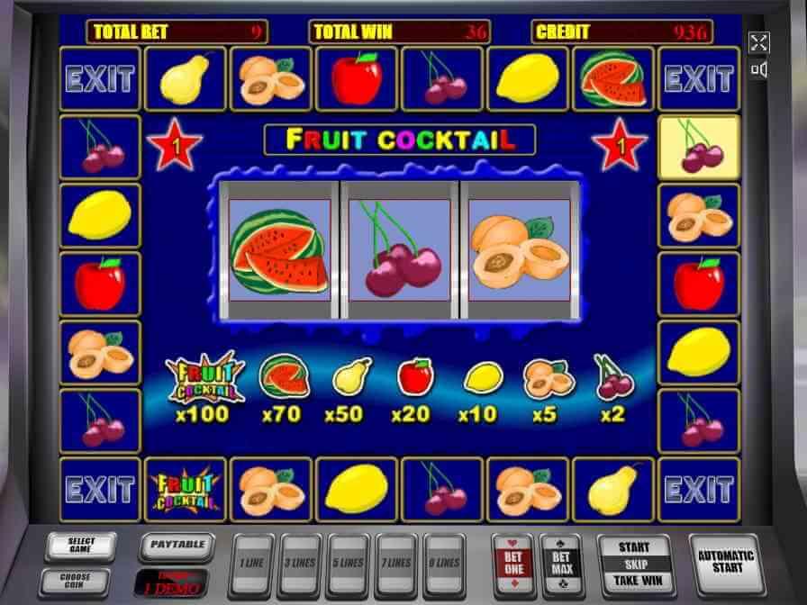 ігрові автомати fruit cocktail секрети