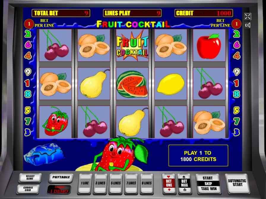 Секреты автоматов fruit cocktail