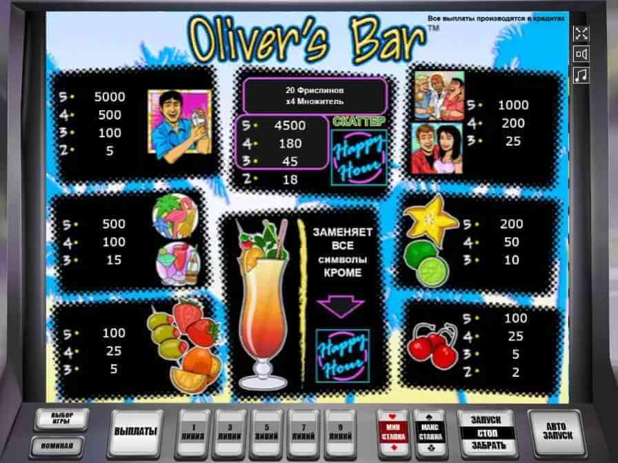 оливер игровые аппараты